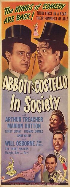 Poster from the film In Society