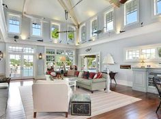 There is an open floor plan between the living room, dining room and kitchen.
