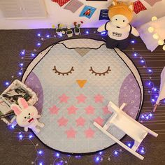 1.5m Round Cosmic Space Cartoon Baby Crawling Quilted Carpet Kids Play Games Toys Storage Mat Portable Trip Anti-slip Rest Rugs Mat Carpets & Rugs