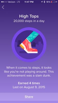 Fitbit badges make walking fun. Badges mark milestones like daily steps and total steps walked. See every Fitbit badge available here with large pictures. Fitbit Badges, Fitbit App, Healthy Lifestyle Motivation, Healthy Lifestyle Tips, Health And Fitness Apps, Walking Exercise, 23 November, Fitness Quotes, Things To Come