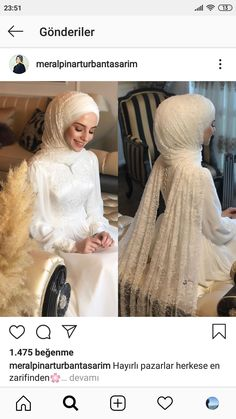 There are different rumors about the annals of the wedding dress; tesettür First Narration; Muslimah Wedding Dress, Muslim Wedding Dresses, Wedding Hijab, Bridal Wedding Dresses, White Wedding Dresses, Dress Muslimah, Hijab Bride, Muslim Brides, Muslim Couples