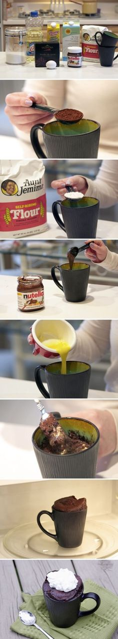 Nutella cake in a cup