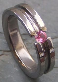 Titanium & Pink Saphire....Modern Wedding