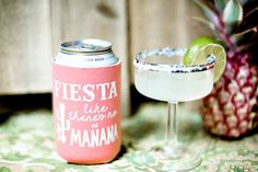 Fiesta Like Theres No Manana, Destination Wedding Favors, Mexico Wedding Favors from Sip Hip Hooray!!  Send your guests home with a party or wedding favor they will use for years to come! Our can coolers are made to order and add a personal touch to any occasion! With our large selection of designs, can cooler colors, ink colors and camo prints, your options are endless!  Completely Custom / Personalized / Party / Event / Wedding / Wedding Favor / Monogrammed Can...