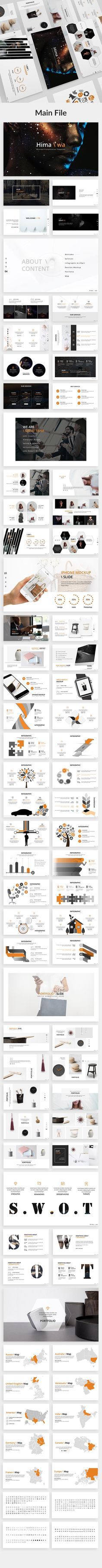 Himawa Creative Powerpoint Template by Zin Studio on @creativemarket