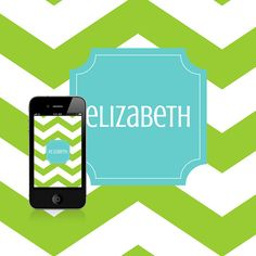 I am IN LOVE with this app & the monogram wallpaper I created for my phone!!!  Monogrammed Wallpaper-
