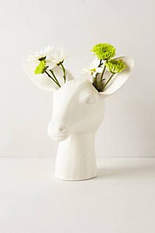 Cholet Hollow Vase Anthropology So cute.  Also have a bunny and a goose.