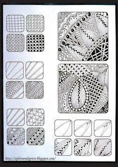 Zentangle Patterns for Beginners | Zentangle - #Zentangle - hand drawn art - zentangle patterns