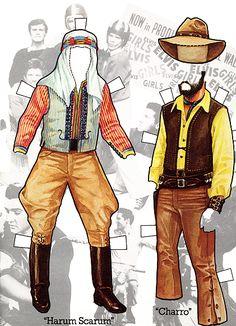 Elvis paperdoll clothes
