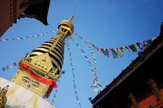 Flags at Swayambhunath stupa