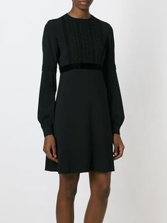 Giamba Embroidered Panel Flared LBD.