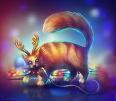 Cat, Elena Dudnakova on ArtStation at https://www.artstation.com/artwork/cat-aad1bb61-02df-49c1-b191-f3c0297804a0