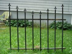 diy fence with pvc pipe and a topper made from four pieces of