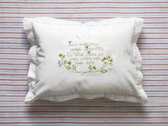 """Baby cushion / Fronha de Oração para bebê """"Rota do Quilt"""""""
