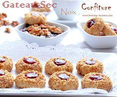 Gateaux traditionnels algeriens Bonjour la recette d'aujourd'hui est une recette très délicieuse, simple et facile a préparer, c'est la recette des biscuits secs aux noix et a la confiture.Pour d'autres idées voir ma catégorie de gateau algerien, et gateaux...