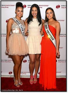 Miss Teen USA on the Red Carpet with @Miss Universe and Jordin Sparks at the Something to Share Gala in NYC.