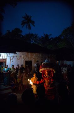 #Theyyam #Ritual #Possession #Ceremony taking place in Kannur India.  www.julianluskin.com