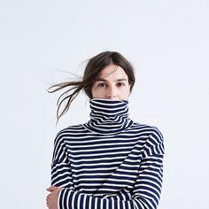 Rivet & Thread LA Crop Turtleneck: Striped Edition