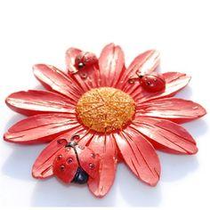 $0.80 Lovely Sunflower Decorative Fridge Magnets Red