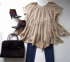 Polished Bohemian #ootd featuring Minnie Rose top, Prada jeans, Longchamp patent leather bag, and Rebecca Minkoff heels!