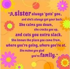 And that is why I wish my sister would TALK to me!