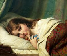Fritz Zuber-Buhler - Girl with Doll !