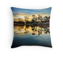 Sunset Reflections at Lake Neangar - Eaglehawk, Victoria Throw Pillow