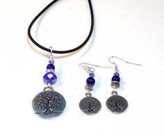 Blue Tree of Life Necklace is a versatile look that can be worn casually or more dressed up.