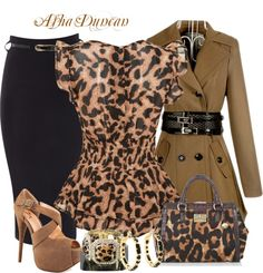"""Animal Print Office."" by missred76 on Polyvore"