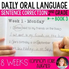 Daily Oral Language (DOL) Book 3: Aligned to the 2nd Grade CCSS 2nd Grade Books, Grade 3, Second Grade, Daily Oral Language, Learning Targets, Spelling Patterns, Friendly Letter, Compound Words, Prefixes