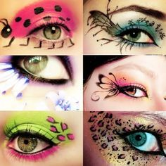 costum, eye makeup, face paintings, halloween makeup, makeup ideas, halloween eyes, eye art, halloween ideas, crazy eyes
