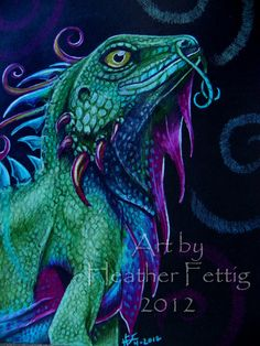 Dragonling 8 x 10 giclee print by TwoBlueRavens on Etsy, $18.00
