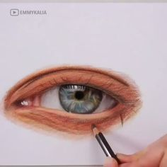 Incredible Eye Drawing Creative drawing Eye Incredible is part of pencil-drawings - pencil-drawings Pencil Art Drawings, Realistic Drawings, Drawing Sketches, Indie Drawings, Acrylic Painting Techniques, Drawing Techniques, Painting & Drawing, Drawing Eyes, Art Graphique