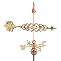 Good Directions Smithsonian Polished Copper Arrow Weathervane-954P - The Home Depot