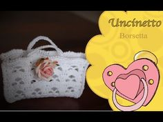 Uncinetto bomboniere: borsetta-How to do bag wedding favors Crochet Videos, Little Bag, Minis, Wedding Favors, Diy And Crafts, Miniatures, Purses, Youtube, How To Make