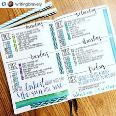 Tons of Bullet journal daily ideas at show me your planner