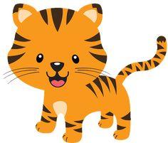 Cute Baby Jungle Animals Clipart 3 by Bryan Mláďata Zvířat, Roztomilá Miminka, Ilustrace, Sloni, Roztomilá Zvířátka, Dorozumívání