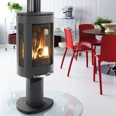 Learn more about the Jotul GF 370 DV Gas Stove among the fireplace products at Hearth and Home Calgary. Visit our showroom today. Gas Stove Fireplace, Direct Vent Gas Fireplace, Vented Gas Fireplace, Freestanding Fireplace, Home Fireplace, Fireplace Inserts, Fireplace Design, Gas Fireplaces, Fireplace Ideas