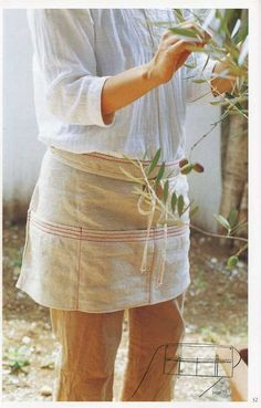 simple linen apron to make