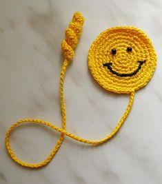 Bookmark Gifts Present Crochet Smile Crochet by ElenaGift