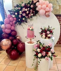 There is something about balloons and flowers that makes the decor event more magnificent! Birthday Balloon Decorations, Baby Shower Decorations, Wedding Decorations, Stage Decorations, Balloon Garland, Balloons, 40th Birthday, Birthday Parties, Birthday Brunch