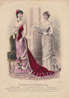 French Fashion Plate - Le Journal des Demoiselles