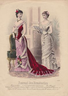 French Fashion Plate - Le Journal des Demoiselles