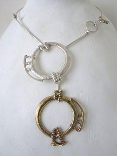 Girocollo in argento e ottone di Loreart74 su Etsy