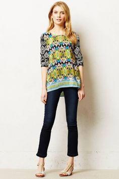 Anthropologie  Laccadive Silk Blouse