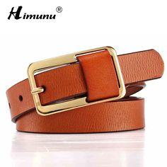Hot vente marque de luxe boucle ardillon 100% vachette femmes ceinture pour les femmes hip - hop Jeans en cuir véritable ceintures ceintures bonbons 8 couleurs