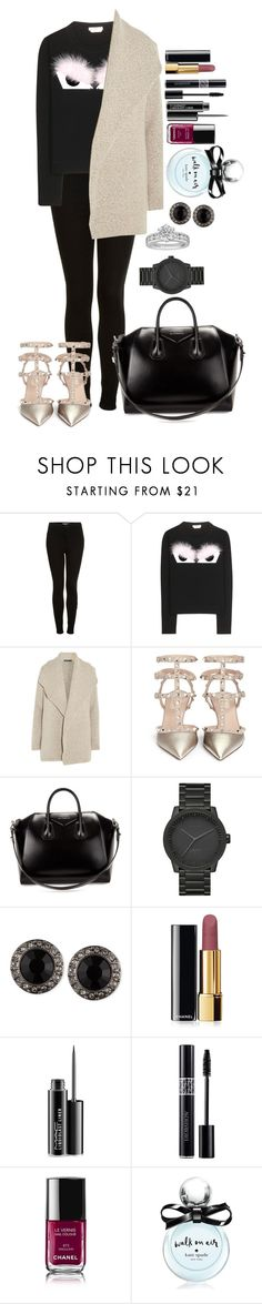 """Untitled #1325"" by fabianarveloc on Polyvore featuring Topshop, Fendi, James Perse, Valentino, Givenchy, LEFF Amsterdam, Chanel, MAC Cosmetics, Christian Dior and Kate Spade"