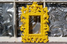 Photo Frame Fancy Yellow 4 x 6 by MichelleLisaTreasure on Etsy, $29.50