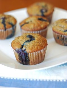 healthy banana blueberry muffin