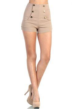 heetheadz.com high waisted khaki shorts (03) #highwaistedshorts